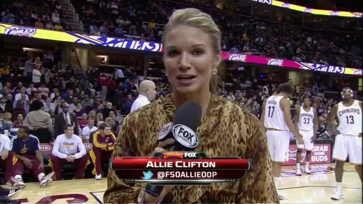Cavaliers sideline reporter Allie Clifton talks NBA Finals ...