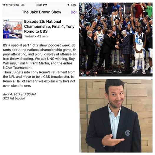Episode 25: The Jake Brown Show – National Championship, Final 4, Romo toCBS