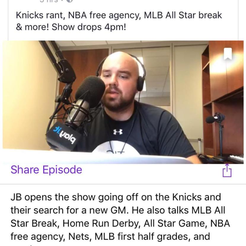 Episode 39: The Jake Brown Show – Knicks Rant, MLB ASG, NBA FreeAgency