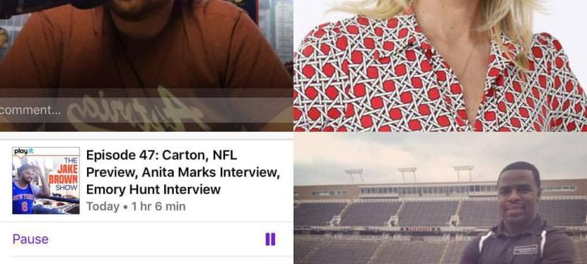 Episode 47: The Jake Brown Show – Carton, Anita Marks Interview, Emory Hunt Interview(9/6/17)