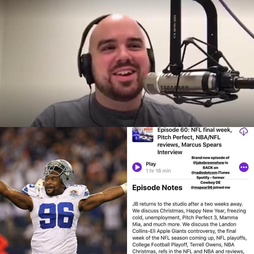 Episode 60: The Jake Brown Show – Marcus Spears Interview, Pitch Perfect, Bye Bye Eli Apple (12/27/17)