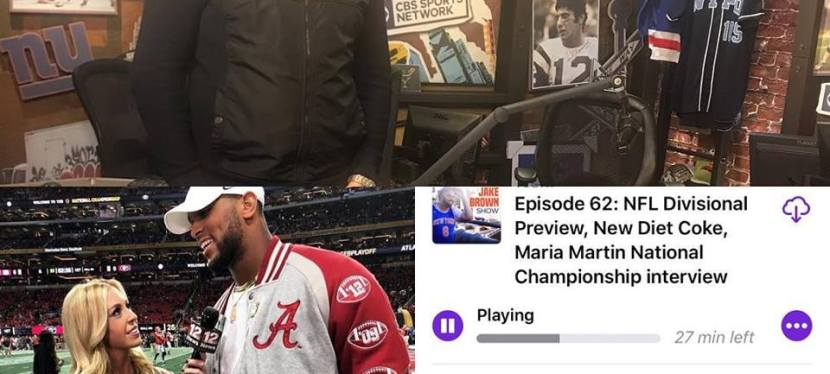 The Jake Brown Show: NFL Divisional Playoff Preview, New Diet Coke, Alabama TV Reporter Maria Martin (1/10/18)