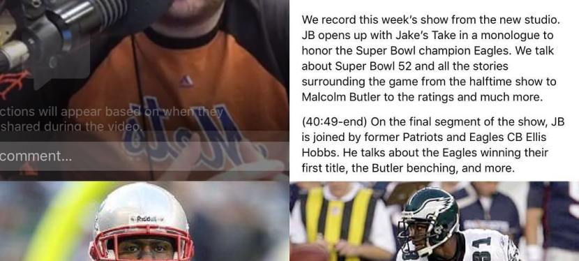 The Jake Brown Show: Super Bowl LII In Review, Eagles Monologue, Former Patriots/Eagles CB Ellis Hobbs Interview(2/6/18)