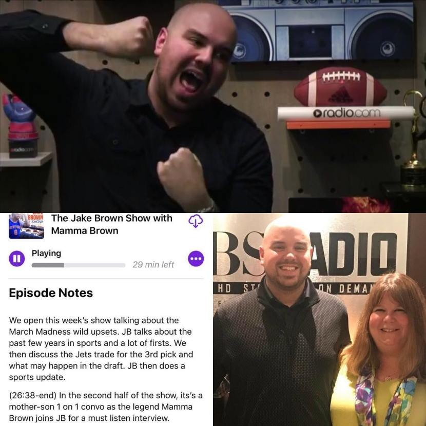 The Jake Brown Show: 16 beats a 1, best time in sports, Jets trade for 3rd pick, Mamma Brown interview (3/19/18)
